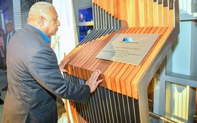 Fiji PM, Frank Banimarama, opens the new terminal in Nadi