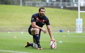 French back Geoffrey Doumayrou at a training session ahead of the upcoming test series against the All Blacks.