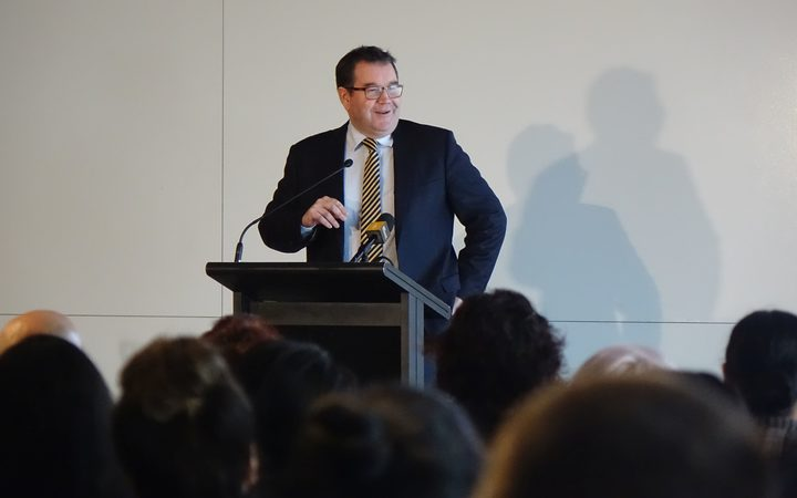 Finance Minister Grant Robertson at the Wellington Maori and Pasifika Business meeting