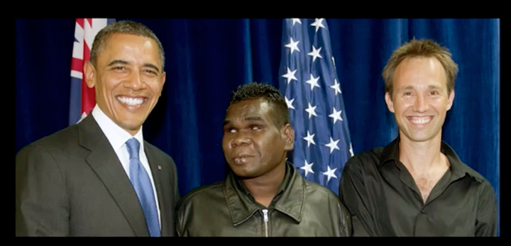 photo of President Obama, Gurrumul and Michael Hohnen