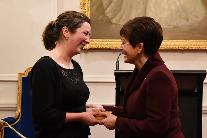 Zonta award winner Dr Jessie Prebble with Governor General Dame Patsy Reddy