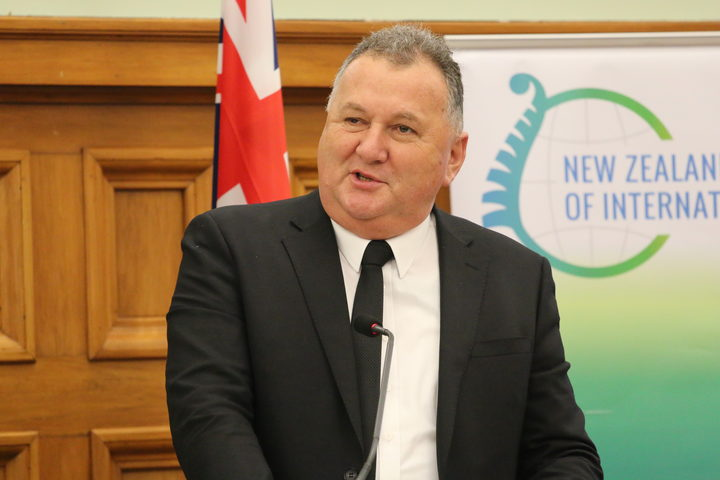 Shane Jones speaking at the New Zealand Institute of International Affairs in Wellington.