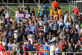 The crowd at the Speedway Grand Prix at Western Springs, April 2014.
