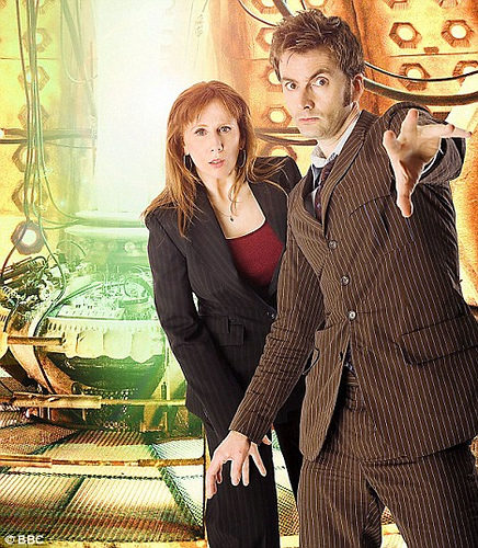 Catherine Tate as Donna Noble in Dr Who.