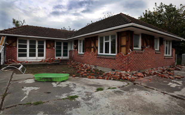 170414. Photo Diego Opatowski / RNZ. Empty  house on the red zone, Christchurch.