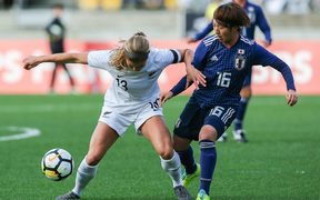 The Football Ferns do battle with Japan in Wellington.