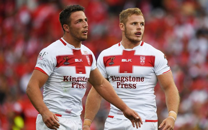 Sam and Thomas Burgess playing for England in 2017 RLWC