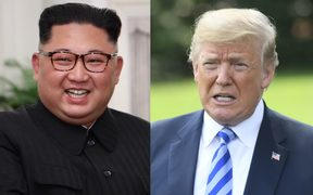 North Korean leader Kim Jong Un and US President Donald Trump.