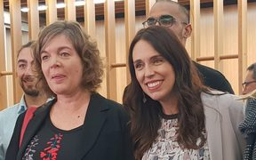 The new Prime Minister's chief science advisor Juliet Gerrard, left, and Prime Minister Jacinda Ardern.