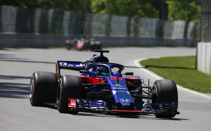 Brendon Hartley during practice run in Canada