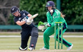 Amelia Kerr on her way to 232 not out against Ireland in Dublin.