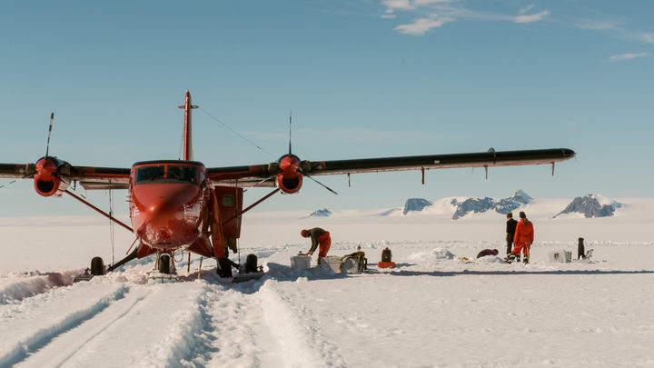 Leeds University scientists ice coring at George VI Ice Shelf, Antarctica