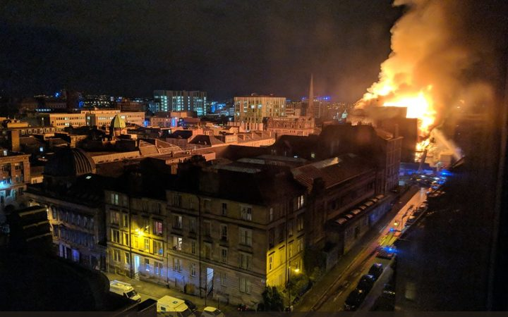 Glasgow School of Art devastated by huge fire in famed Mackintosh Building