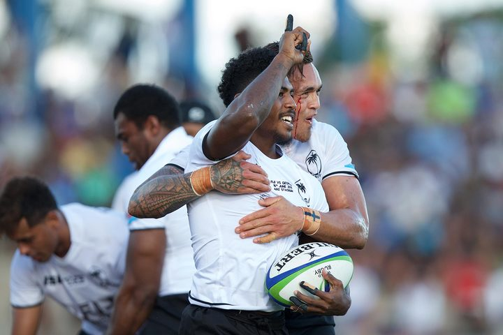 Fiji ran in six tries against Georgia.
