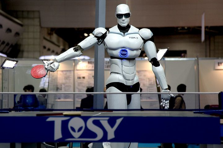 A Ping Pong Playing Robot at Tokyo International Robot Exhibition, Nov 2009