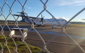 The plane which was forced to make an emergency landing at Hawke's Bay Airport.