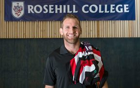 All Black Captain Kieran Read at his old High School Rosehill College in Papakura
