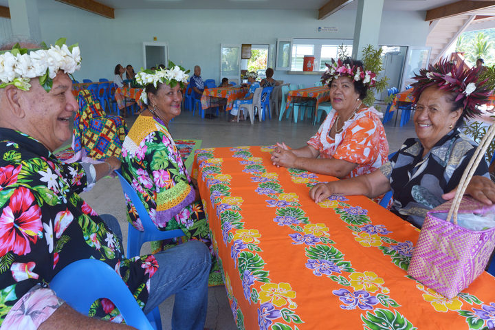 Cook Islanders elderly people sitting together.
