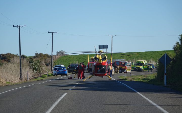 The scene of the crash on SH3 that claimed five lives.