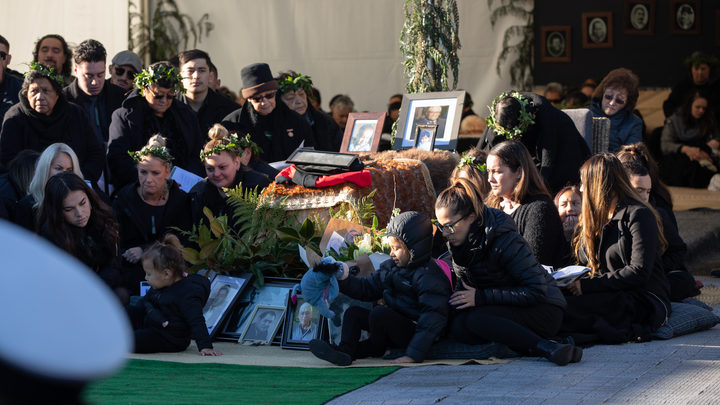 Former Minister of Māori Affairs Koro Wētere was buried today at a family urupā near Te Kuiti. His body has been lying in state at Tūrangawaewae Marae since Saturday, when he died, a day after his 83rd birthday. His tūpāpaku will be taken to Ōparure Marae before being buried at a whānau urupā.