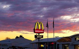 McDonald's after tax profit was flat at $30 million.