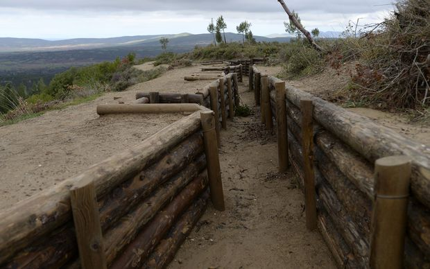 Trenches reconstructed at Canakkale on the site of the Battle of Chunuk Bair.