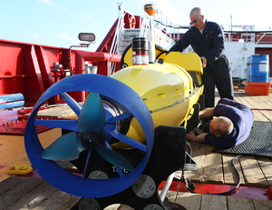 An unmanned submersible, based on an Australian Navy ship, is being used in the search.