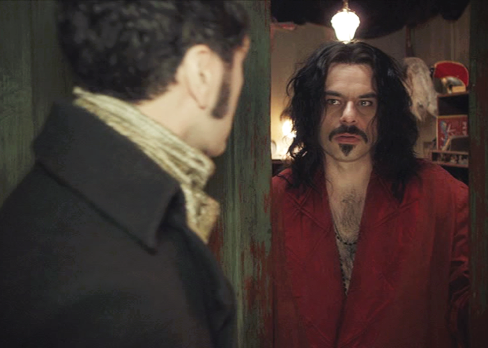 Jemaine Clement as the 862 year old vampire Vladislav in 'What We Do in the Shadows' (with Taika Waititi's character Viago)