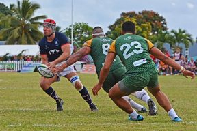 Hong Kong drew first blood against the Cook Islands with a four-try win in Rarotonga.