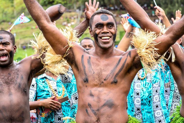 A Fijian cultural dancer at the 6th Melanesian Arts Festival in Solomon Islands.