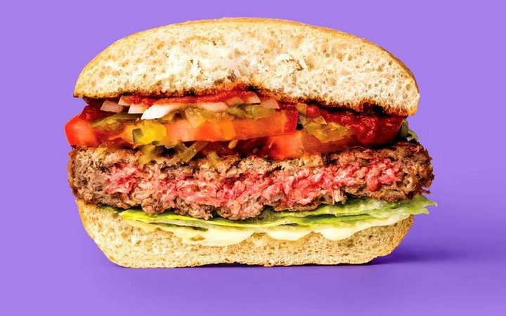 The meat-free Impossible Burger