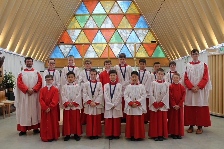 The boys of the Christchurch Cathedral Choir