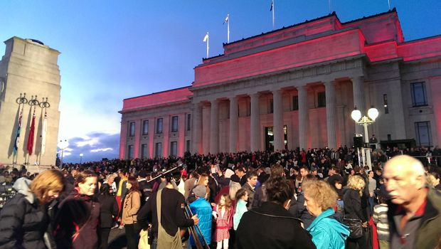 After the Dawn Service in Auckland.