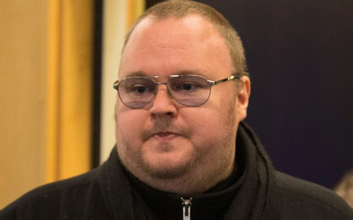 Kim Dotcom at his extradition appeal at the High Court in Auckland in 2016