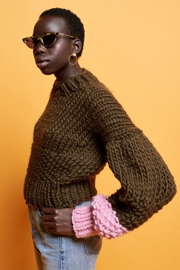 Karen Walker's collaboration with Nicole Leybourne - aka The Knitter.