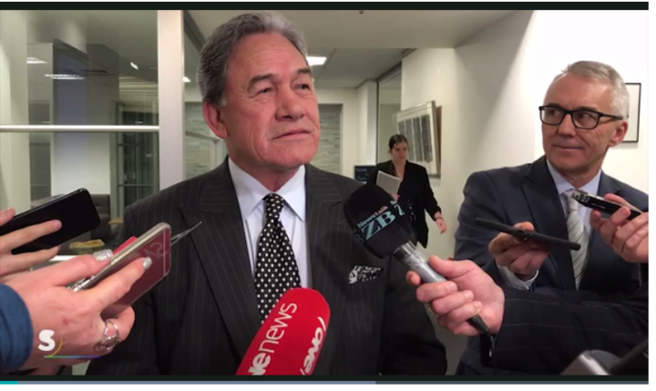 Only in NZ: Acting PM Winston Peters fielding questions on allegedly being late to an early morning TV interview