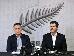 NZ Football president Deryck Shaw and chief executive Andy Martin