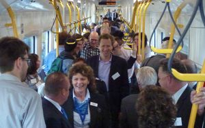 Auckland Transport is hoping for a steady rise in patronage on the new electric trains following this inaugural VIP trip on Sunday.