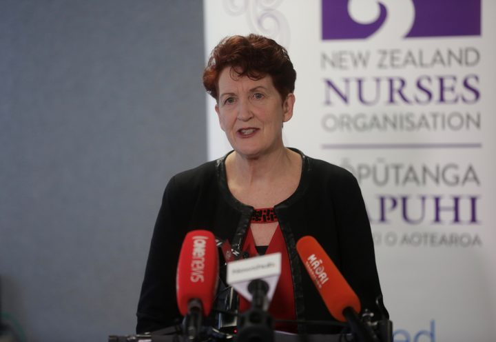 Industrial Services Manager Cee Payne announced on Tuesday that nurses will go on strike today. Photo / Richard Tindiller