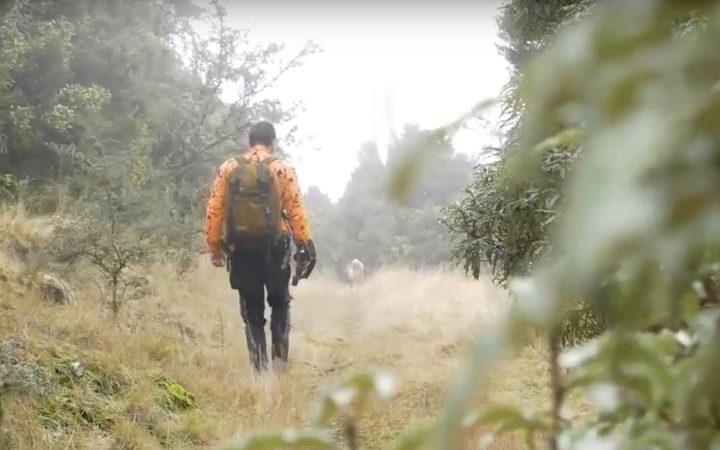 Cam Stevenson和他的边境牧羊犬Pig是一支专业猎人团队的一员,他们的任务是清理野生山羊的区域。