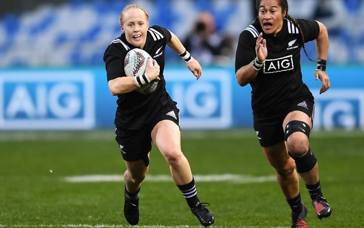 Black Ferns Kendra Cocksedge and Fiao'o Fa'amausili