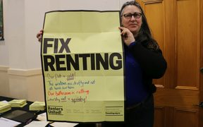 Renter Linda says her Wellington flat is draughty and cold, but the landlord refuses to do anything about it.