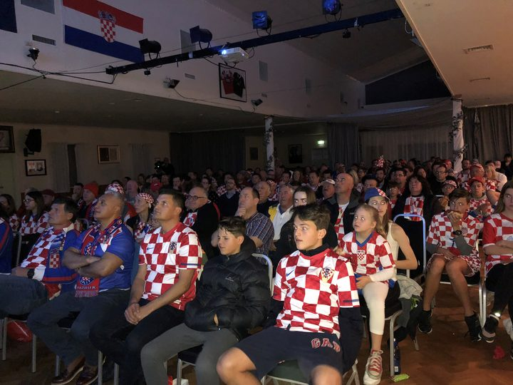 A nervous audience at the Croatian Club in Te Atatu