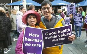 Thousands of nurses march during first strike in 30 years