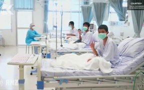 First video of Thai boys outside of cave released