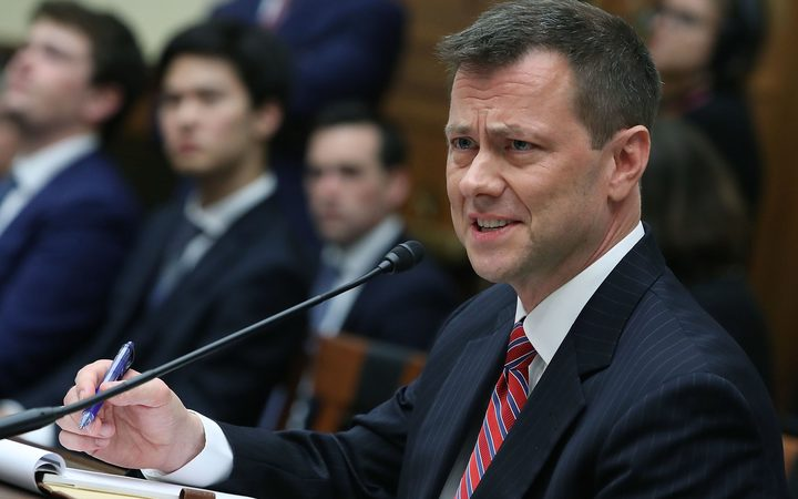 Deputy Assistant FBI Director Peter Strzok speaks during a joint committee hearing of the House Judiciary and Oversight and Government Reform committees
