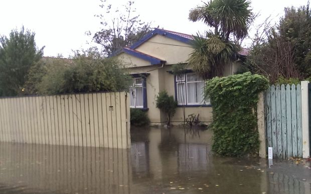 A flooded house in the Flockton Basin.