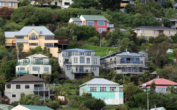 Houses on the hills of Lyttelton.