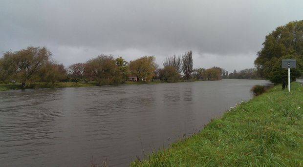 Christchurch's Avon River after heavy rain on Tuesday