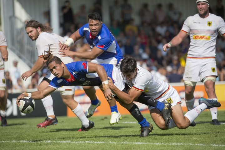 Melani Matavao scored twice for Samoa in their comeback victory.